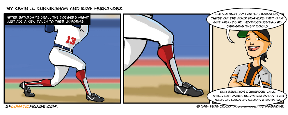 I know those aren't socks; they're stirrups.  We did it that because we miss stirrups.
