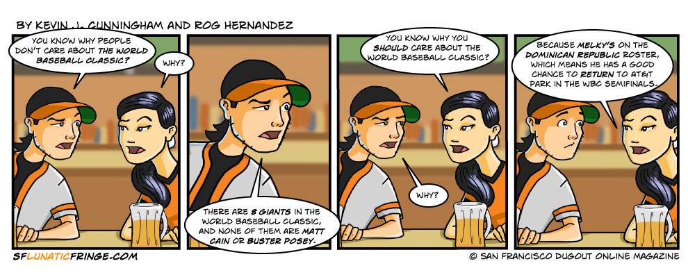 I hate that Hugo Chavez must be a Giants fan because of all the Venezuelans who do well for SF...